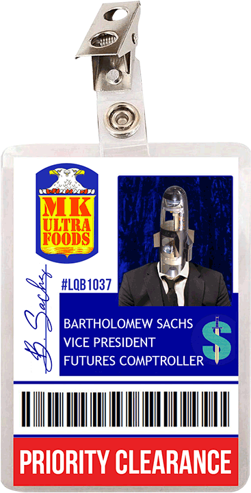 Vice President Bartholomew Sachs ID Card